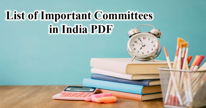 Committes or Commissions in India and their heads PDF