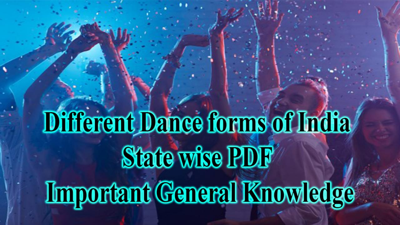 Different Dance forms of India with States PDF - Cracku