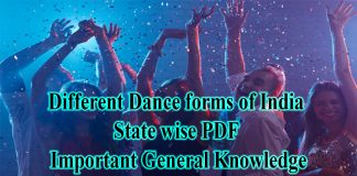 Different Dance forms of India with States PDF