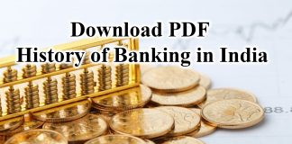 History of Banking in India pdf