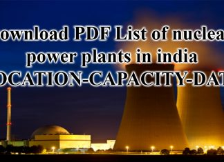 List of nuclear power plants in india pdf