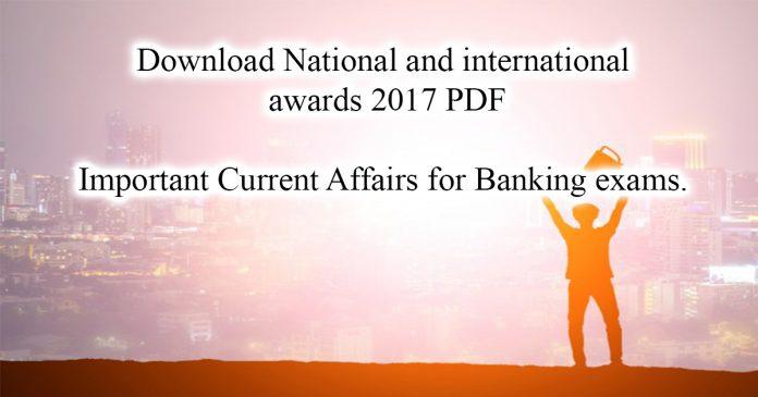 National and international awards 2017 PDF