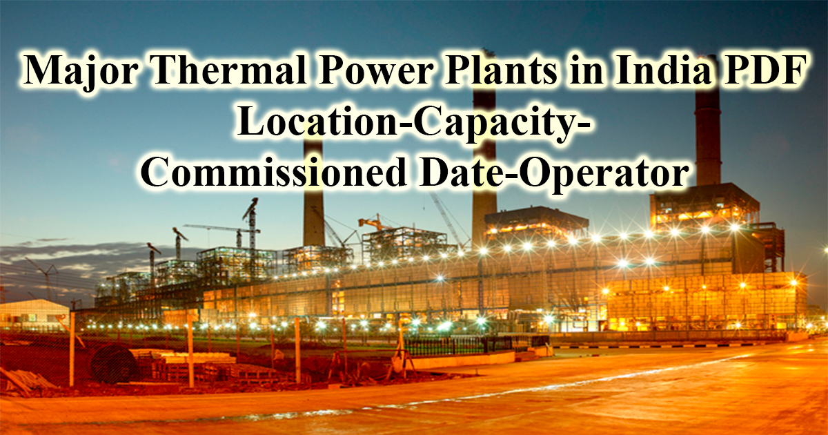 Thermal power plant in india pdf file