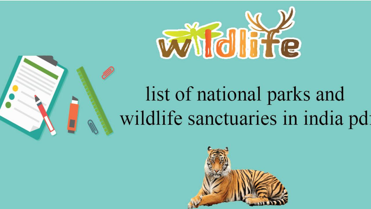 List of national parks in India pdf - Cracku