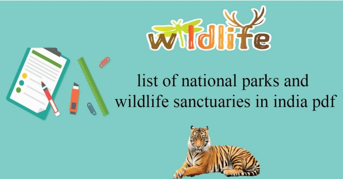 national parks in india pdf important wild life sanctuaries and animals found in them