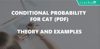 Bayes theorem conditonal probability for CAT