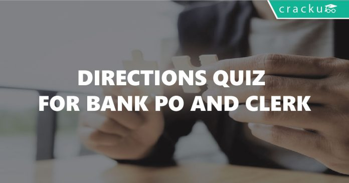 Directions Questions for Bank Po and clerk