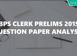 IBPS Clerk 2015 Question paper pdf