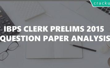 IBPS Clerk 2015 Question paper pdf