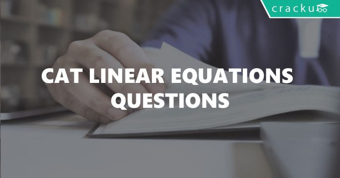 Linear Equations CAT Questions