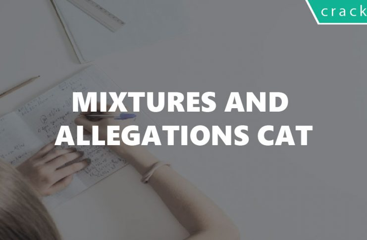 Mixtures and Allegations CAT questions