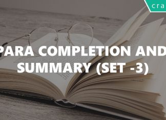 Para Completion and Summary Questions for CAT Set-3