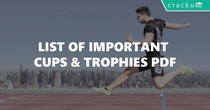Sports Cups & Trophies List PDF