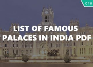 List of famous Palaces in India PDF