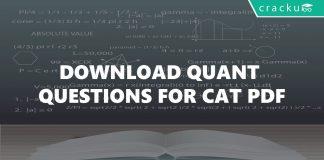 Quantitative aptitude for cat questions PDF