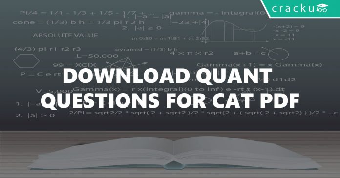 Quantitative aptitude for cat questions PDF