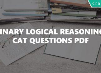Binary Logical Reasoning CAT Questions PDF