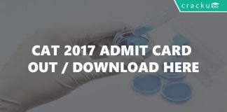 CAT 2017 Admit Card Out-Download Here