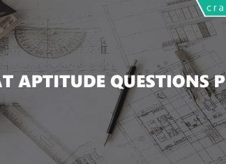 CAT Aptitude Questions PDF