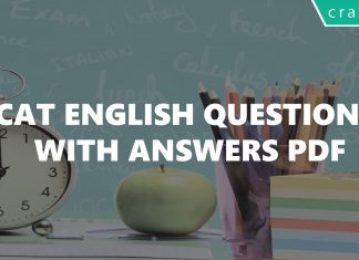 CAT English Questions With Answers PDF