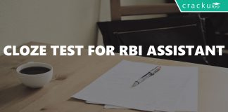 Cloze Test For RBI Assistant