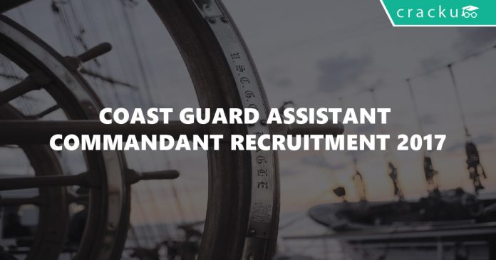 Coast Guard Assistant Commandant Recruitment 2017