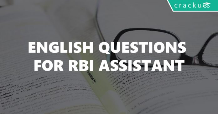 English Questions For RBI Assistant