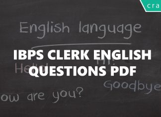 IBPS CLERK ENGLISH QUESTIONS