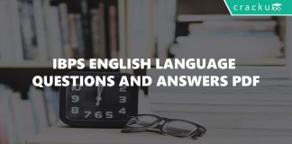 IBPS English Language Questions and Answers PDF