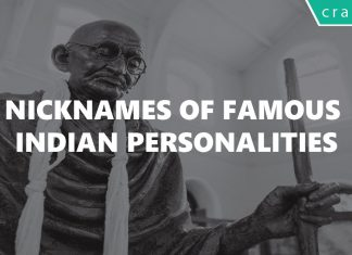Nicknames of Famous Personalities of India and World