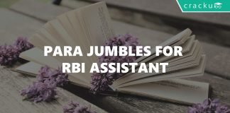 Para Jumbles For RBI Assistant