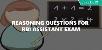 Reasoning Questions For RBI Assistant Exam