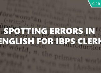 Spotting Errors In English For IBPS Clerk