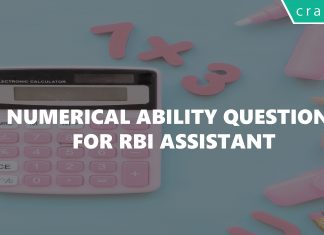 Numerical ability questions for rbi assistant exam