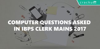 Computer Questions asked in IBPS Clerk Mains 2017