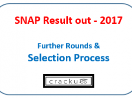 SNAP Result 2017 - selection process - rounds gepiwat