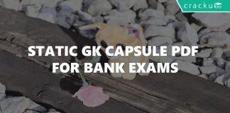 Static Gk Capsule PDF for Bank exams