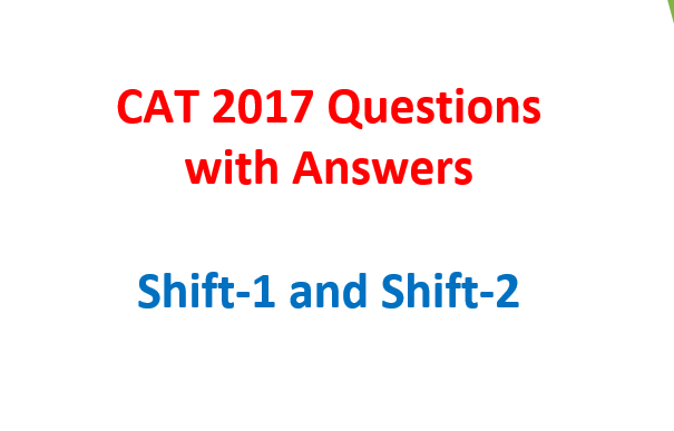 cat 2017 questions with solutions - answers