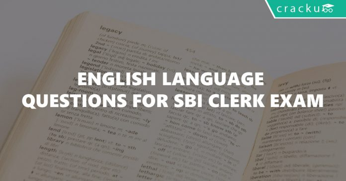 English Language Questions for SBI Clerk Exam