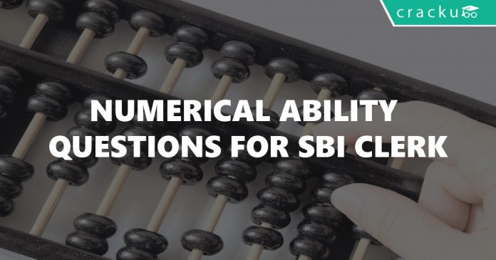 Numerical Ability Questions for SBI Clerk