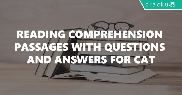 Reading Comprehension Passages with Questions and Answers for CAT