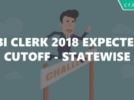 SBI Clerk 2018 Expected Cutoff prelims mains Statewise
