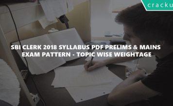 SBI Clerk 2018 Syllabus PDF