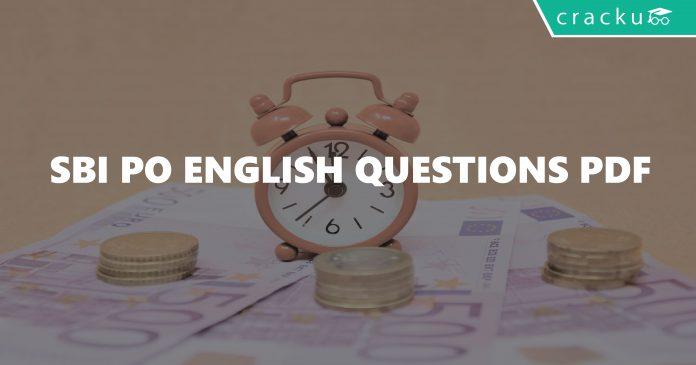 SBI PO English Questions PDF