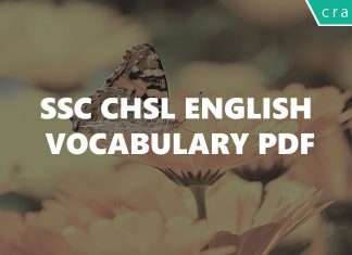 SSC CHSL English Vocabulary PDF
