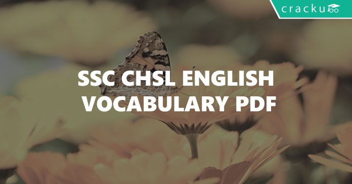 SSC CHSL English Vocabulary PDF