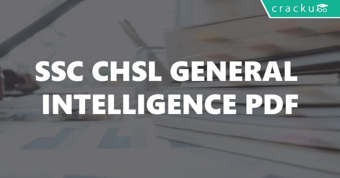 SSC CHSL General Intelligence PDF