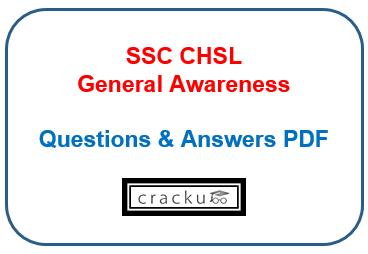 SSC CHSL General awareness study material pdf