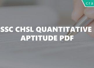 SSC CHSL Quantitative Aptitude PDF