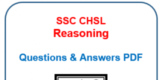 SSC CHSL Reasoning questions and answers pdfSSC CHSL Reasoning questions and answers pdf